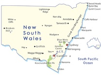 Australia New South Wales Destination Map