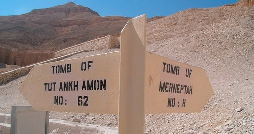 Signpost for the Tombs of Tutankhamon and Merneptah