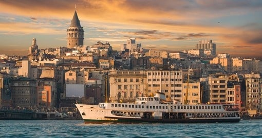 View of Istanbul with Galata Tower in the background
