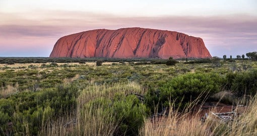 Uluru is one of the world's largest monoliths and 550 million years old