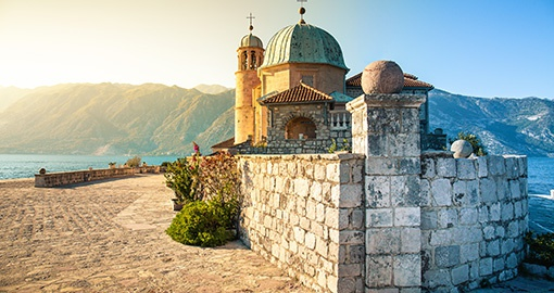 Island of Our Lady of the Rocks in in Perast