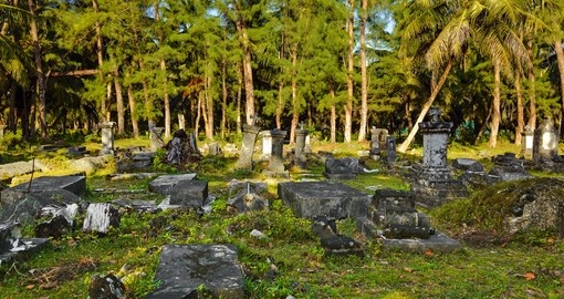 Old cemetery in Seychelles