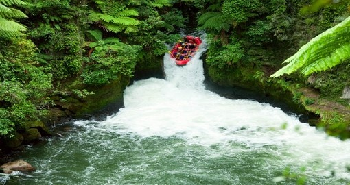 White water rafting on the Kaituna River, part of your New Zealand vacation.