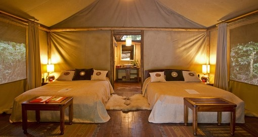 Experience all the amenities of Sanctuary Gorilla Forest Camp during your next Uganda safaris.