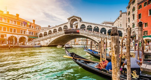 Glide across the waterways in this historic water bound town on your Trip to Italy