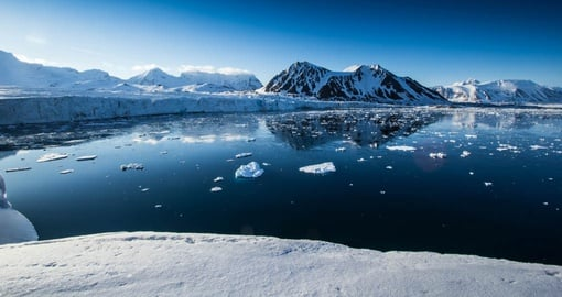 Arctic Spring Floating in South Spitsbergen