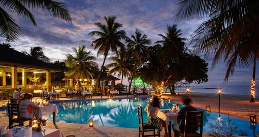 Relax by the pool on your Fiji Vacation
