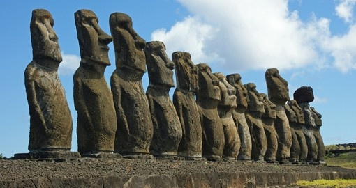 Take in the enigmatic Moai on your Chile Tour