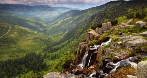 Pancavsky Waterfall in Krkonose Mountains