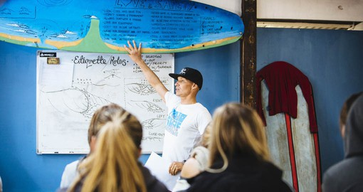 Have a Surf theory lessons before starting the joy of surfing during your next trip to Australia.
