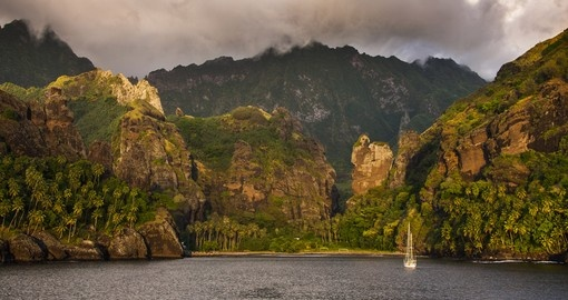 Explore the Bay of Virgins in Fatu Hiva while on your Trip to Tahiti