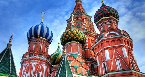 St. Basil's Cathedral on Red square - Moscow