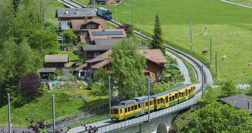 Have a train ride  in Lauterbrunnen Valley and enjoy natures beauty during your next trip to Switzerland.