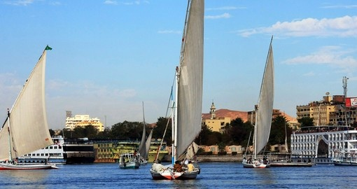 Sails on Nile River
