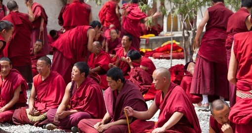 Monks debate at Sera Monastery
