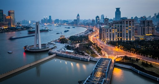 Experience Shanghai at night on your next China Vacations.