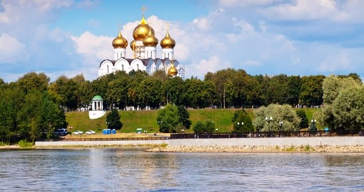 Visit Assumption Cathedral in Yaroslavl and explore its architectural beauty during your next Russia tours.