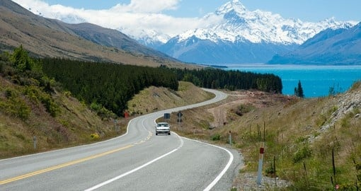 Drive through the beautiful South Island