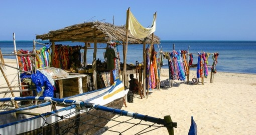 Souvenir shop on the beach