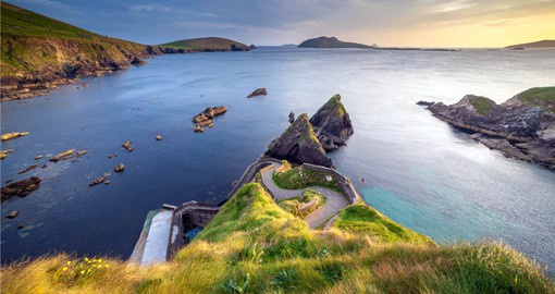 A visit to Dunquin Pier on the Dingle Peninsula is part of your Ireland vacation