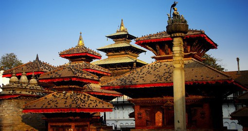 Visit the Durbar Square, a UNESCO world heritage site located in Kathmandu on your Nepal Vacations