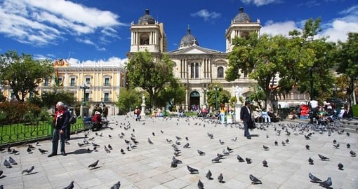 One of La Paz's Plaza icon locations, Plaza Murillo, and a highlight on all Bolivia vacations