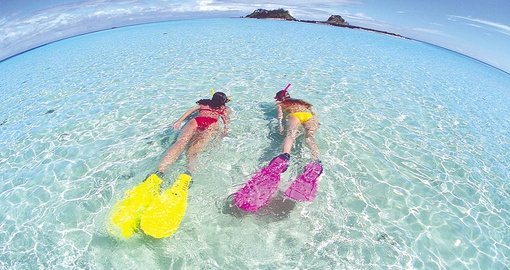 Snorkel or try other water sports on your Fiji Vacation