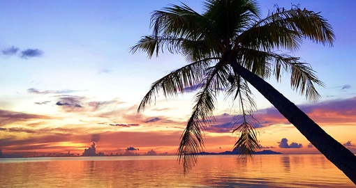 Sunset at Le Tahaa Island Resort & Spa