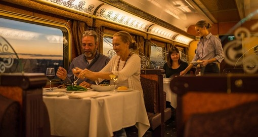 Queen Adelaide Restaurant aboard The Ghan