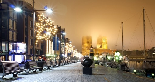 Oslo during Christmas time - always a great time for booking a Norway vacation.