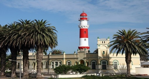 Explore the breathtaking view from lighthouse in Swakopmund on your next Namibia vacations.