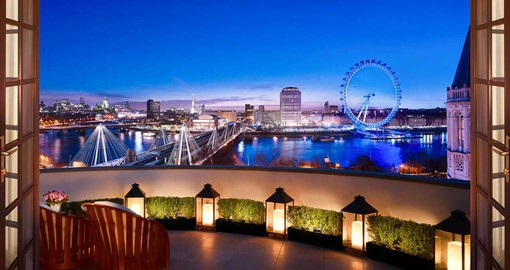 Enjoy a breathtaking view from the penthouse of the Corinthia during your next trip to London.