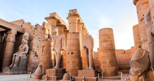 The statue of pharaoh - A great photo opportunity on your Egypt tour
