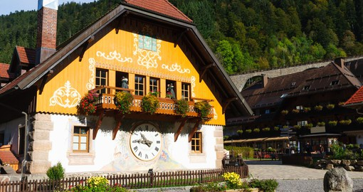 Tour the Cuckoo Clock factory as you travel through the Black Forest on your German vacation.