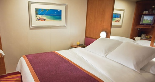 The Inside Stateroom on the Norwegian Pearl.