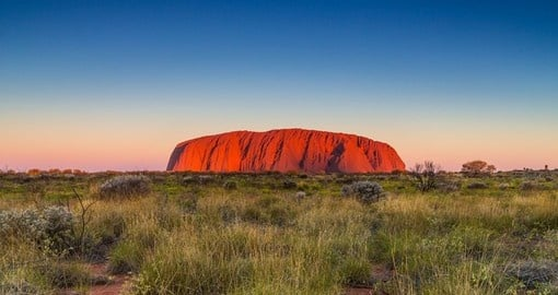 Australia's Uluru (or Ayers Rock) is a massive sandstone monolith and should be included on your trip to Australia.