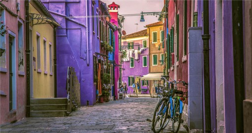 Burano Island is known for its lace work and brightly coloured homes