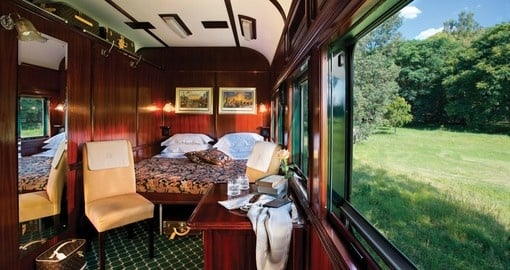 Your Rail Accommodation is a Deluxe Suite