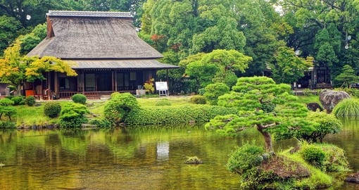 Traditional gardens are featured on trips to Japan