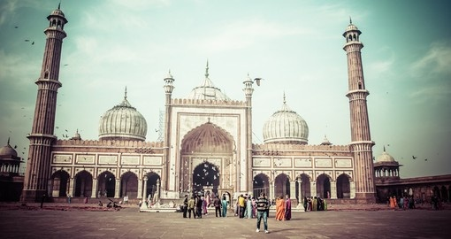 The famous Jama Masjid Mosque of Old Delhi is a must inclusion on all India tours.