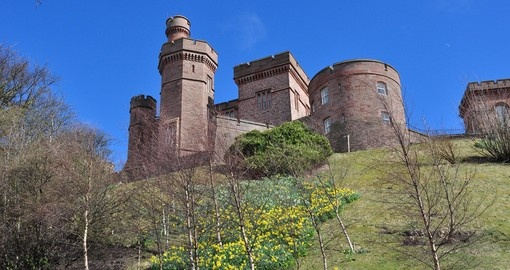 Visit Inverness Castle and experience beautiful castle overlooking the River Ness during your next Scotland tours.