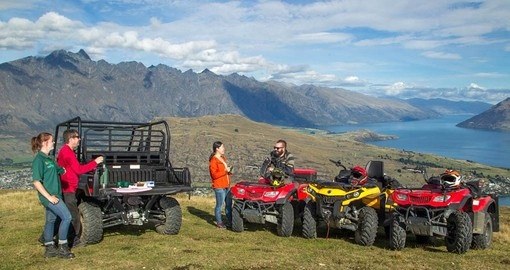 Enjoy amazing views on the Quad Biking Safari during your New Zealand Vacation