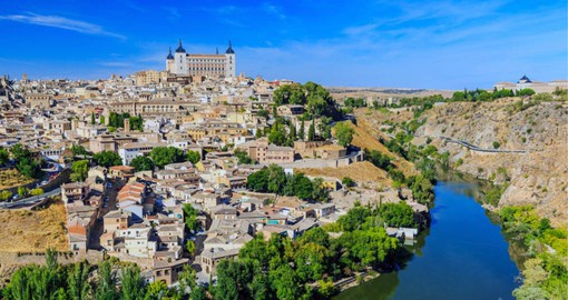 The ancient city of Toledo is dominated by the Alcázar fortress