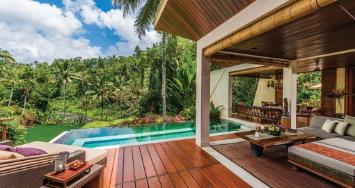 The Villas feature private plunge pools