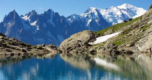 Your trips to Switzerland includes a visit to Mont-Blanc, Europe's highest peak