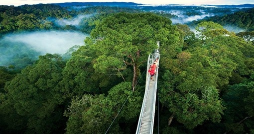 A visit to Monteverde is part of your Costa Rica vacation package