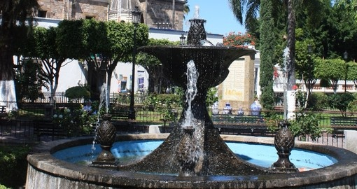 Fountain in the City Plaza
