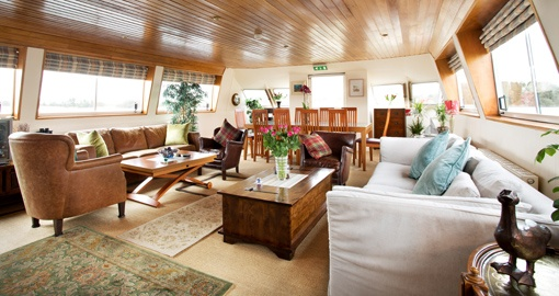 Overall View of the Saloon on the Shannon Princess.