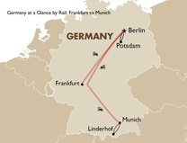 Germany at a Glance by Rail: Frankfurt to Munich