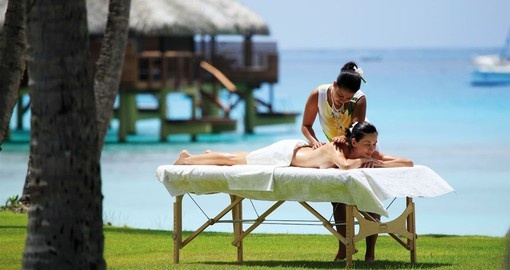 Relax after beach massage spa during your next trip to Tahiti.